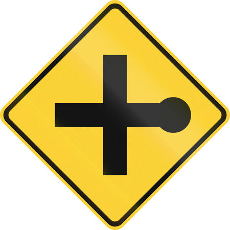 cul de sac: Road sign used in the US state of San Diego - Cul-de-sac. Stock Photo