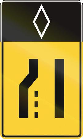 lane: United States MUTCD road sign - Merge lane.