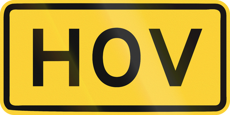 United States MUTCD road sign - HOV.