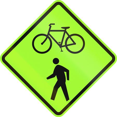cycles: Estados Unidos se�al de tr�fico MUTCD - Ciclos y peatones.