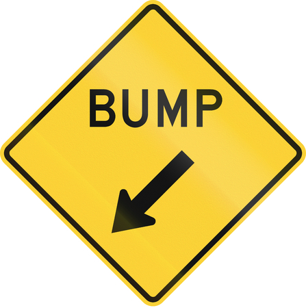 bump: Road sign used in the US state of Minnesota - Bump.