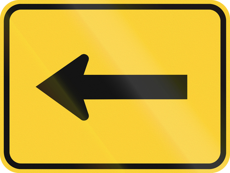 turn yellow: United States MUTCD warning road sign - Direction sign.