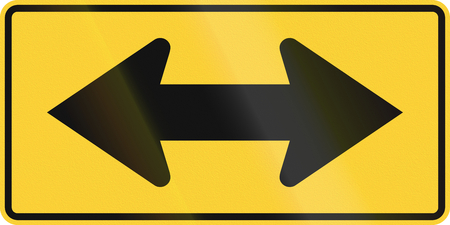 both: United States MUTCD road sign - Both directions.