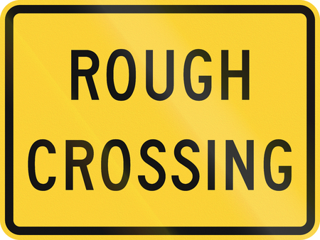 rough road: United States MUTCD road sign - Rough crossing.
