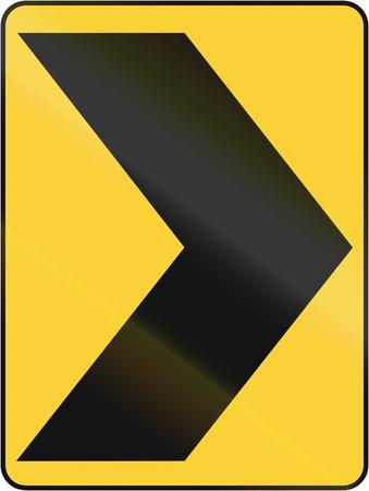 on temporary: Temporary road control version - Chevron. Stock Photo