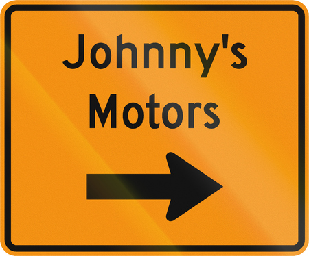 on temporary: Road sign used in the US state of Virginia - Temporary detour to facility.