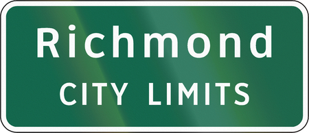 Road sign used in the US state of Virginia - Richmond city limits.