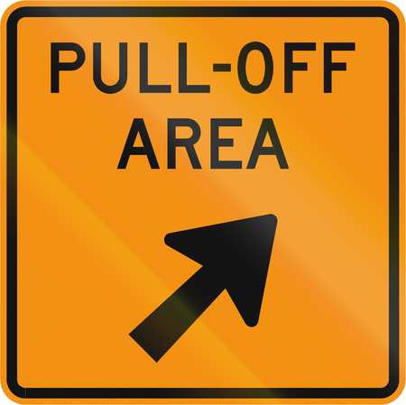 roadworks: Road sign used in the US state of Virginia - Pull-Off area.