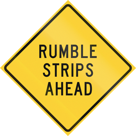 quadratic: Road sign used in the US state of Texas - Rumble strips ahead.