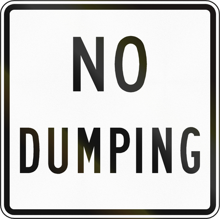 dumping: Road sign used in the US state of Virginia - No dumping. Stock Photo