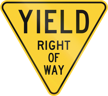 Old version of the Yield Sign in the United States.