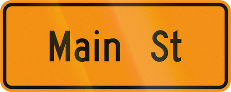 informational: Road sign used in the US state of Virginia - Temporary street name sign.