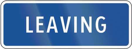 auxiliary: Road sign used in the US state of Virginia - Leaving.