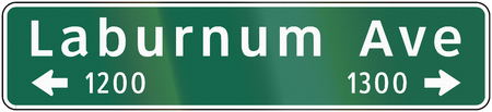 informational: Road sign used in the US state of Virginia - Street name.