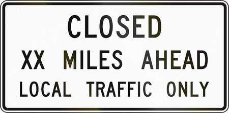 road traffic: Road sign used in the US state of Virginia - Closed. Stock Photo