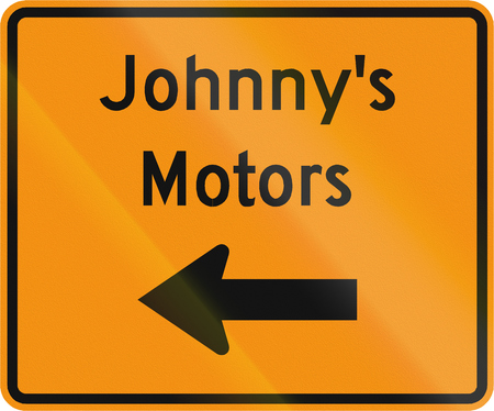 johnny: Road sign used in the US state of Virginia - Temporary detour to facility.