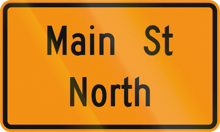 roadworks: Road sign used in the US state of Virginia - Temporary street name sign.