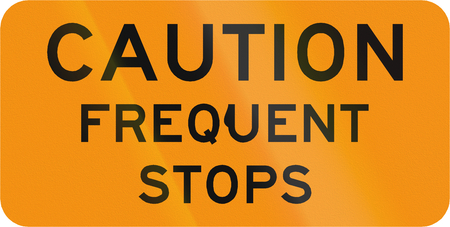 roadworks: Road sign used in the US state of Virginia - Caution frequent stops.
