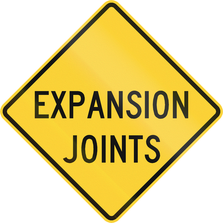 expansion: Road sign used in the US state of Virginia - Expansion joints. Stock Photo