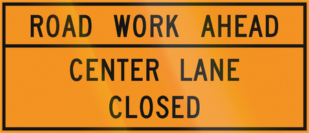 road work: Road sign used in the US state of Virginia - Road work ahead. Stock Photo