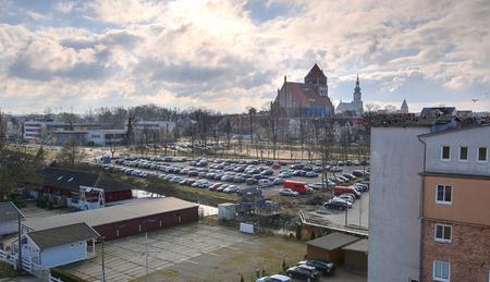 greifswald: Hanseatic city of Greifswald. Stock Photo