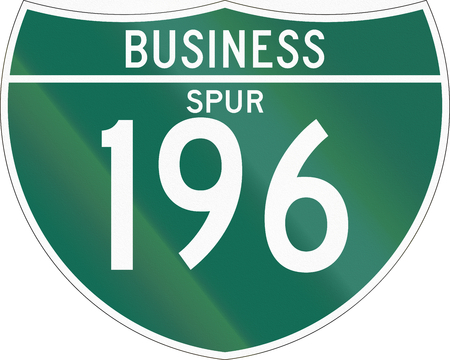 spur: Interstate business spur shield used in the US.