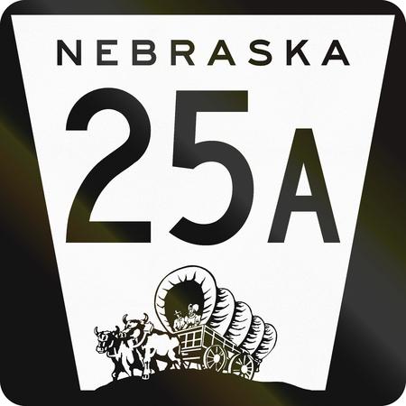 nebraska: Nebraska Highway Route shield used in the US.