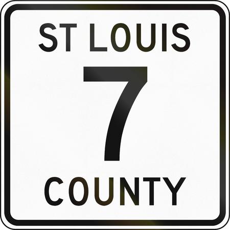 minnesota: Minnesota county route shield - St. Louis County.