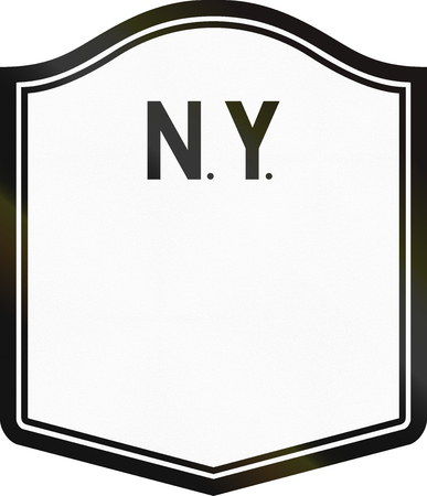 new york state: Blank New York State Highway Route shield.