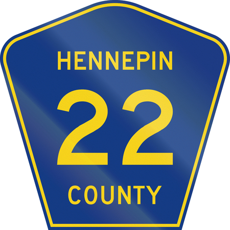 minnesota: Minnesota county-designated highway shield - Hennepin County.