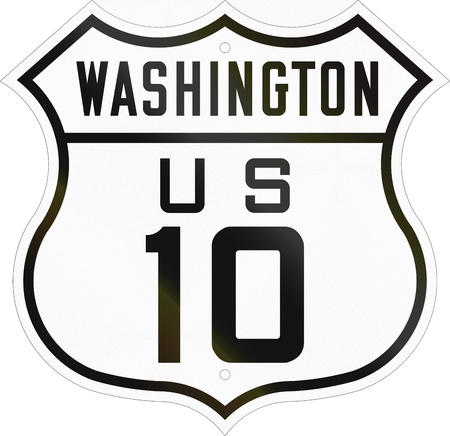 historic: Historic Washington Highway Route shield from 1926 used in the US.