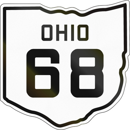 historic: Historic Ohio Highway Route shield from 1927 used in the US. Stock Photo