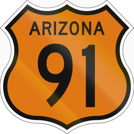 historic: Historic Arizona Highway Route shield from 1958 used in the US.