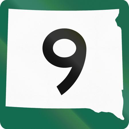 south dakota: South Dakota Highway Route shield used in the US.