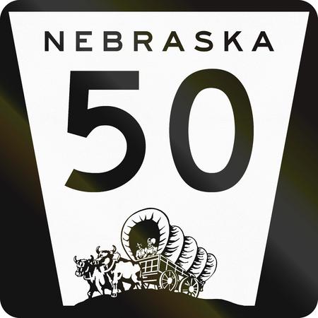 Nebraska Highway Route schild gebruikt in de VS.