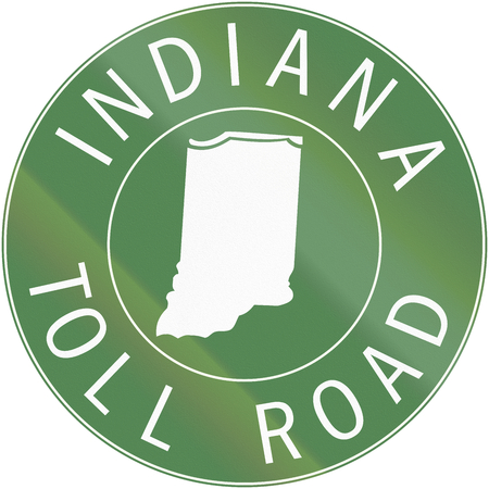 toll: Indiana Toll Route shield from 1968 used in the United States.