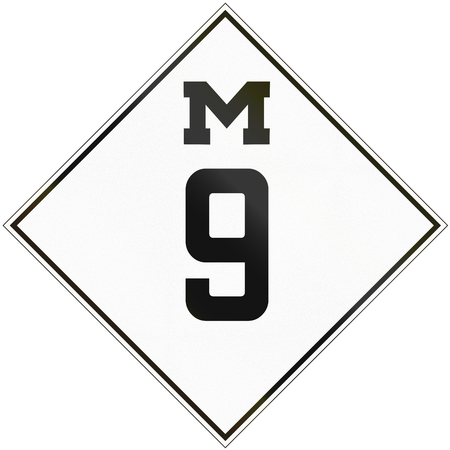 historic: Historic Michigan Route shield from 1926 used in the United States.