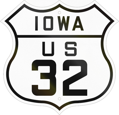 historic: Historic Iowa Highway Route shield from 1926 used in the US.