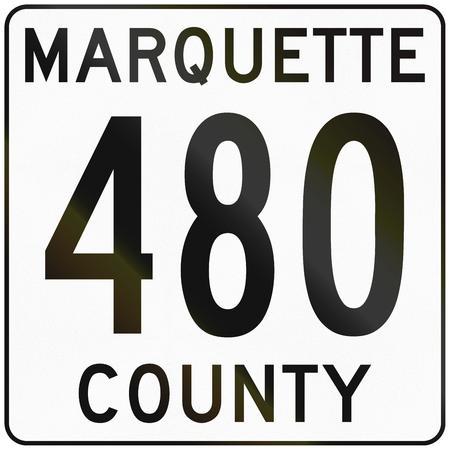 marquette: Image of a Michigan county route shield - Marquette county.