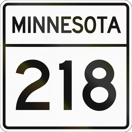 quadratic: Historic Minnesota State Highway route marker from 1950 used in the US.