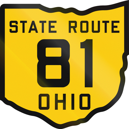 historic: Historic Ohio Highway Route shield from 1920 used in the US.