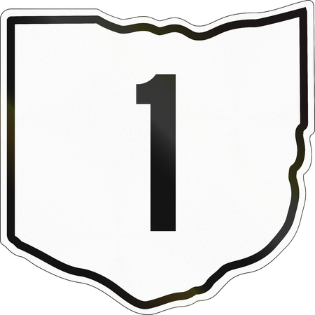 historic: Historic Ohio Highway Route shield from 1960 used in the US. Stock Photo