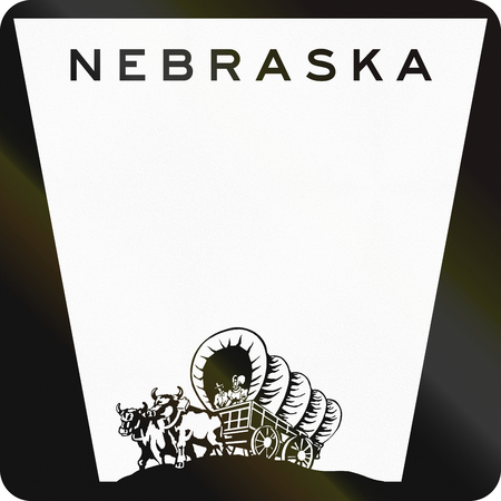 Blank Nebraska Highway Route schild gebruikt in de VS.