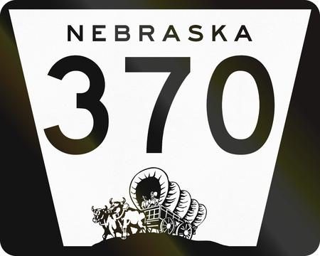 Nebraska Highway Route schild gebruikt in de VS. Stockfoto