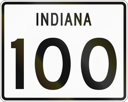 indiana: Indiana Route shield used in the United States.