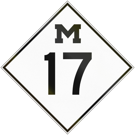 historic: Historic Michigan Route shield from 1948 used in the United States.
