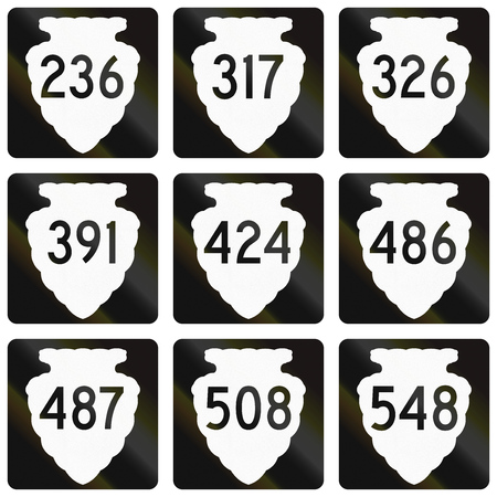 secondary: Collection of Montana Secondary Highway route shield.