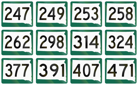 south dakota: Collection of South Dakota Route shields used in the United States.