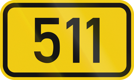 Numbered highway shield of a German Bundesstrasse (Federal road).