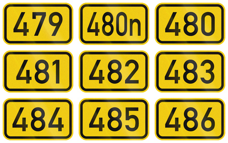 numbered: Collection of Numbered highway shields of German Bundesstrassen (Federal roads).